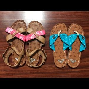 b09717c2dde33 Roxy Girl Shoes - New Roxy Girl Faux Leather looking Summer Sandals